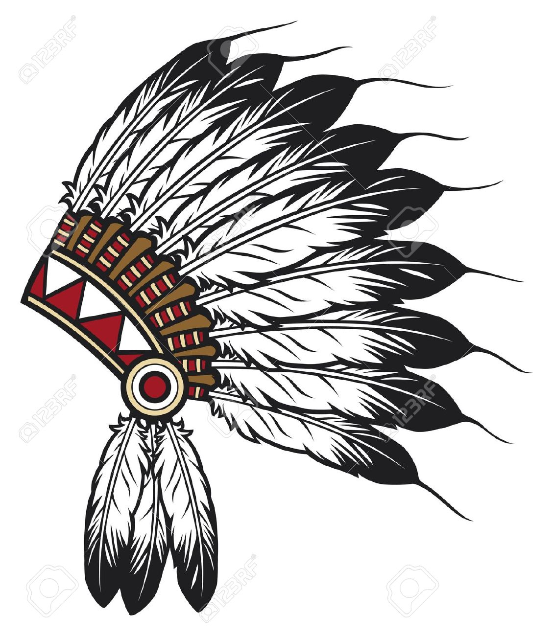 Indian Head Dress Png - Download Indian Headdress Transparent Image Clipart PNG Free ...