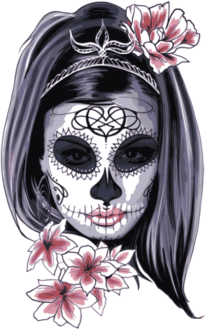Catrina Png - Download La Calavera Catrina Skull Day Of The Dead T-shirt ...