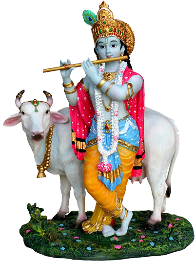Krishna With Cow Png - Download PNG image - Lord Krishna Png - Indian Cow With Krishna PNG