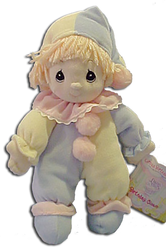 Precious Moments Birthday Png - Download Precious Moments Birthday Circus Clown Plush Doll - Doll ...