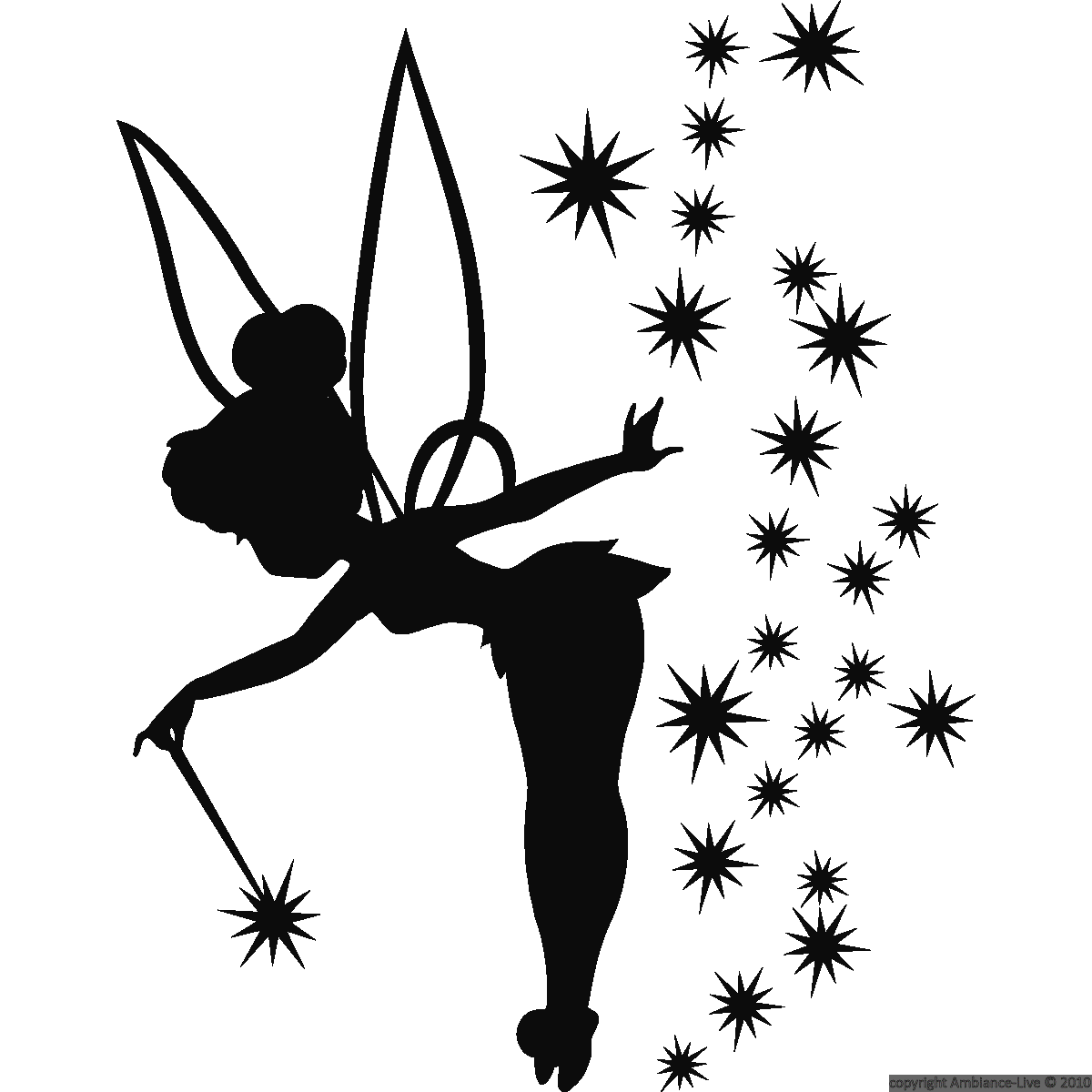 Tinkerbell Live Png - Download Tattoo Silhouette Bell Tinkerbell Tinker Wendy Fairy ...