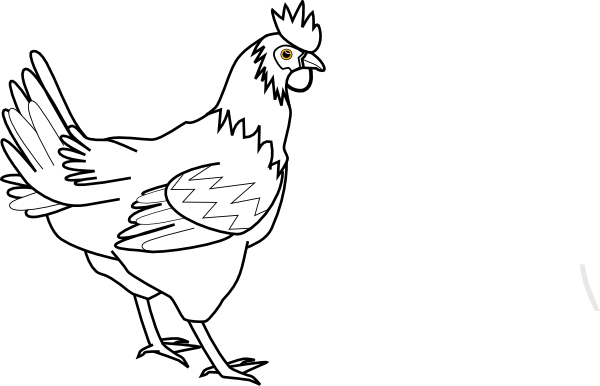 Chicken Png Outline - Download this image as: