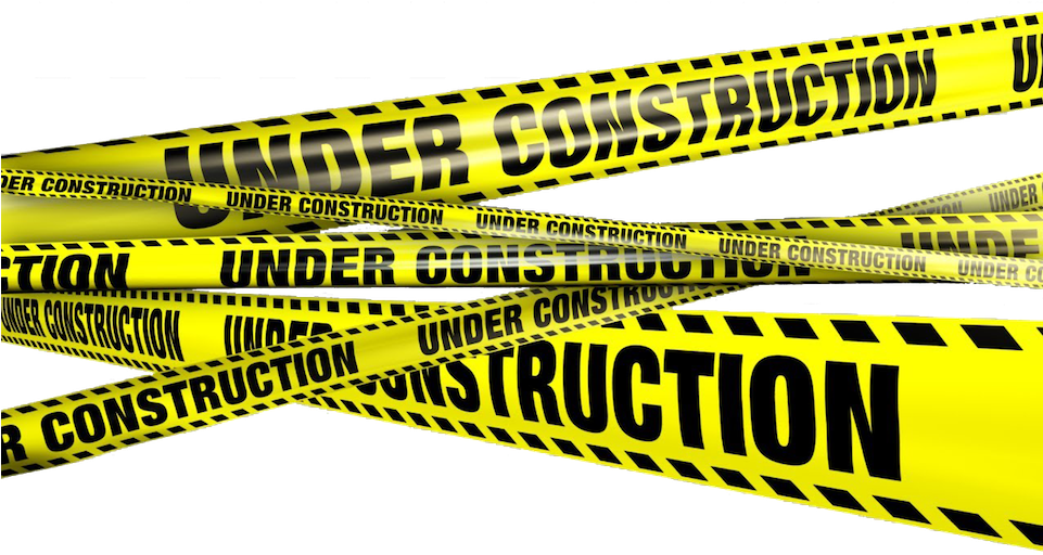 Construction Sign Png No Background - Download Under Construction - Construction Tape Transparent PNG ...