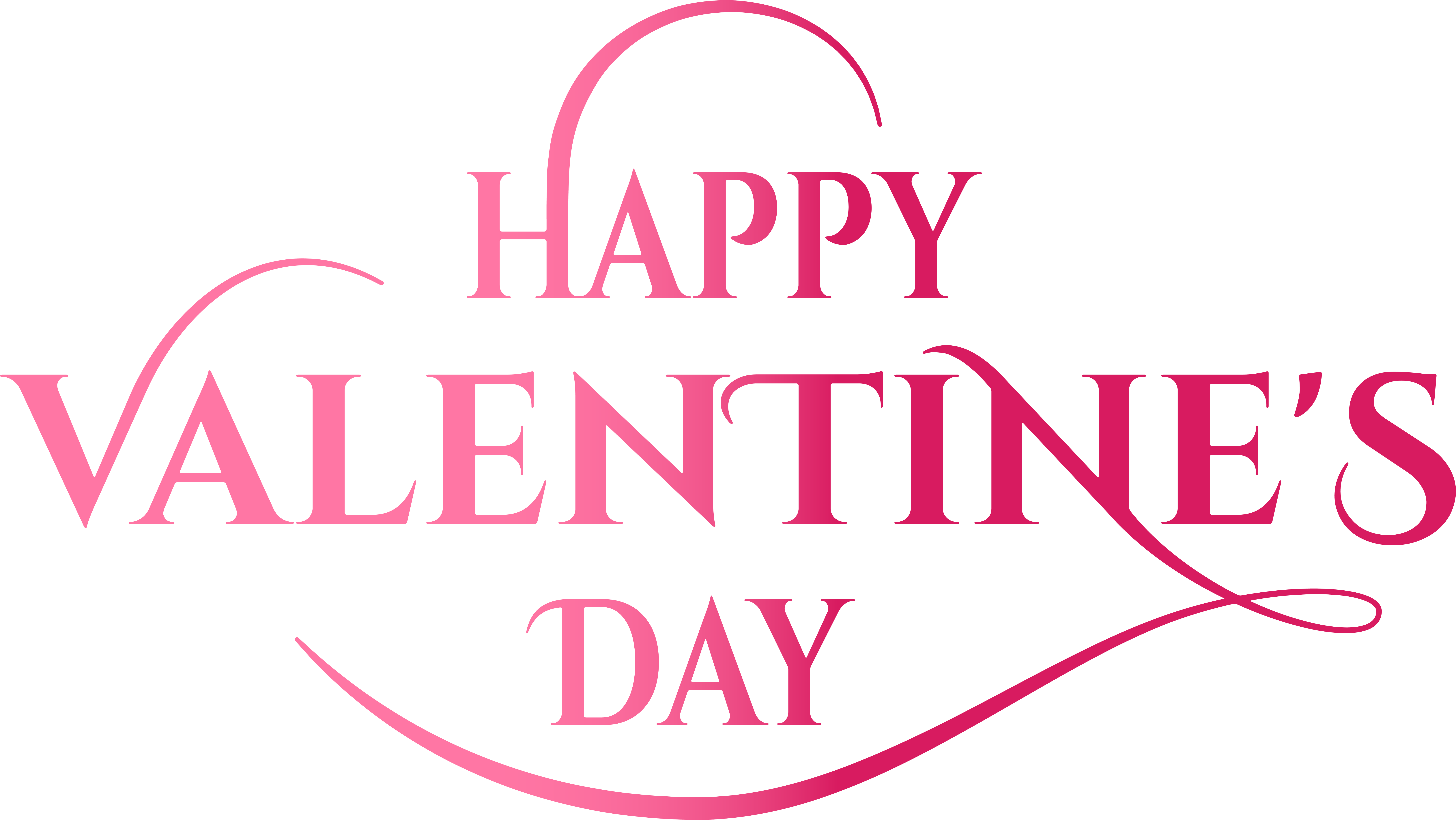 Download Valentine's Day Pink Text Png I #469056 - PNG ...