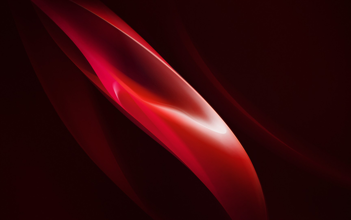 Download Wallpapers Red Wave Dark Red B 970401 Png Images Pngio