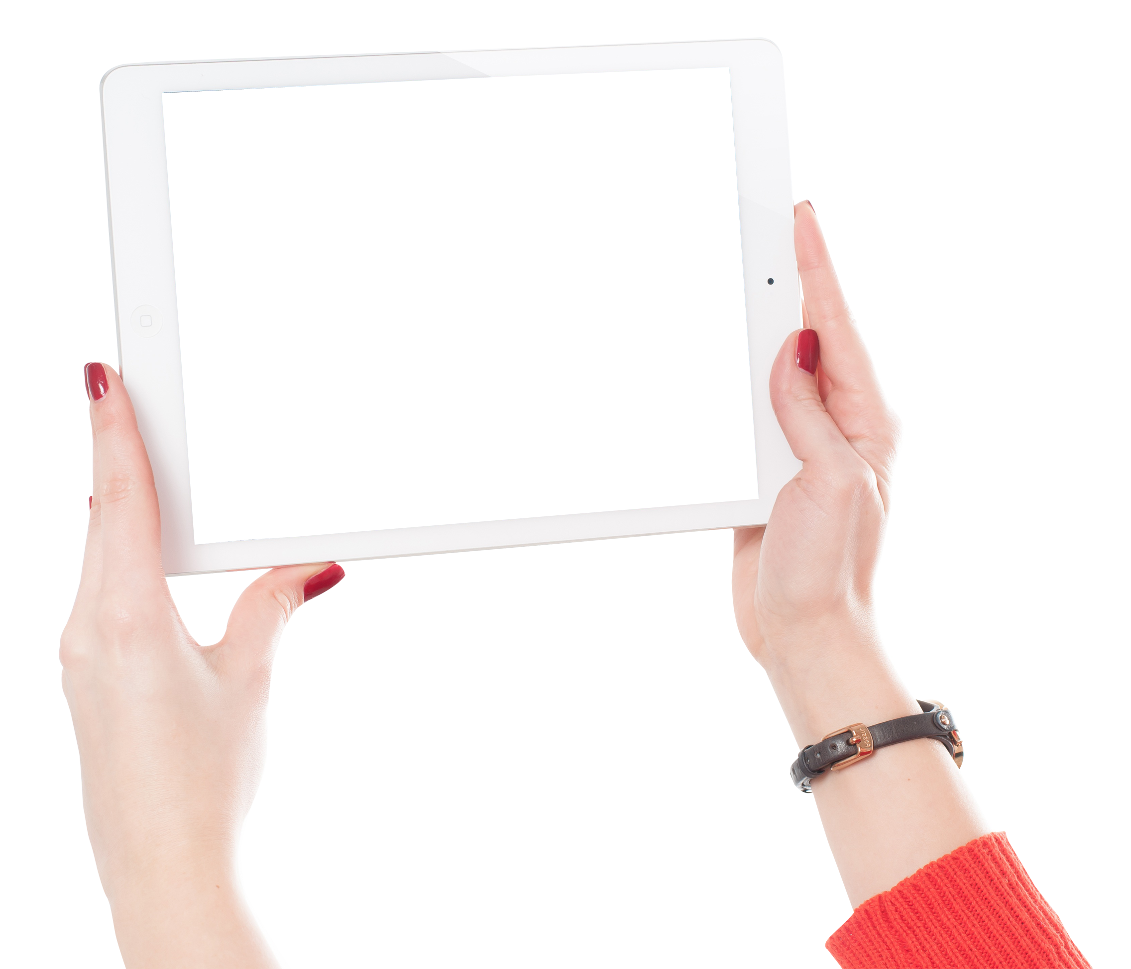 Ipad Hand Png - Download Woman Hands Holding iPad PNG Image for Free