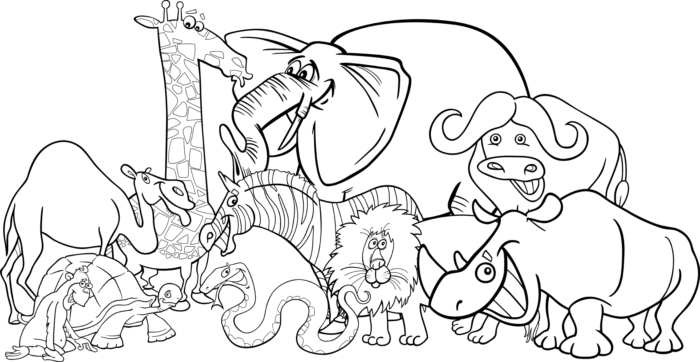 Black And White Png Zoo & Free Black And White Zoo.png ...