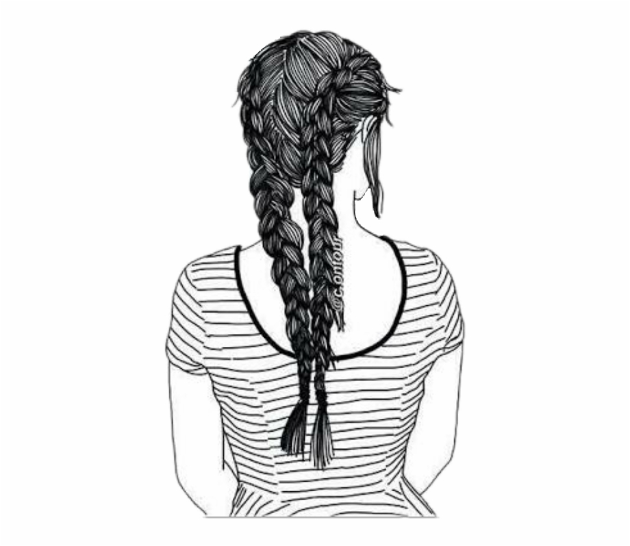 Drawing Cornrows French Braid Desenhos 620988 Png Images Pngio