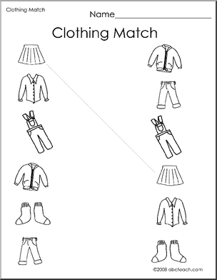 Clothes Worksheet Png - Drawing practice clothes - Ecosia