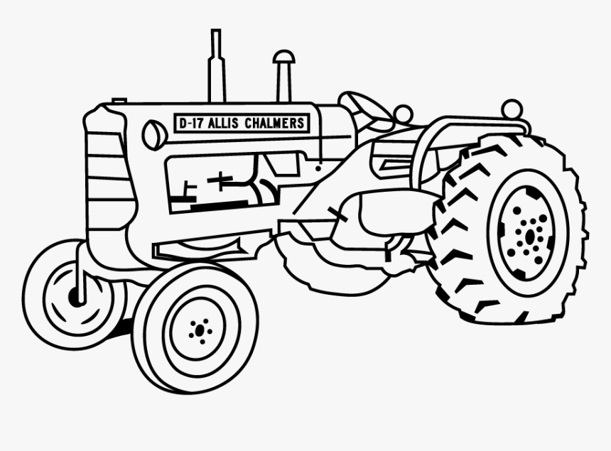 Tractor Drawing Png - Drawing Tractors Tractor Trolley - Allis Chalmers Tractor Drawing ...