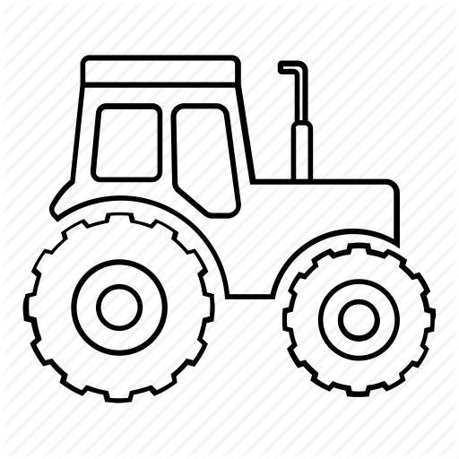 Tractor Outline Png - Drawing Tractors Transparent & PNG Clipart Free Download - YWD
