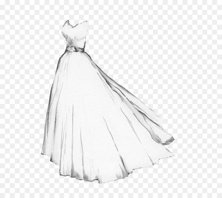 Wedding Dress Png Sketches - Drawing Wedding dress Gown Sketch - white wedding png download ...