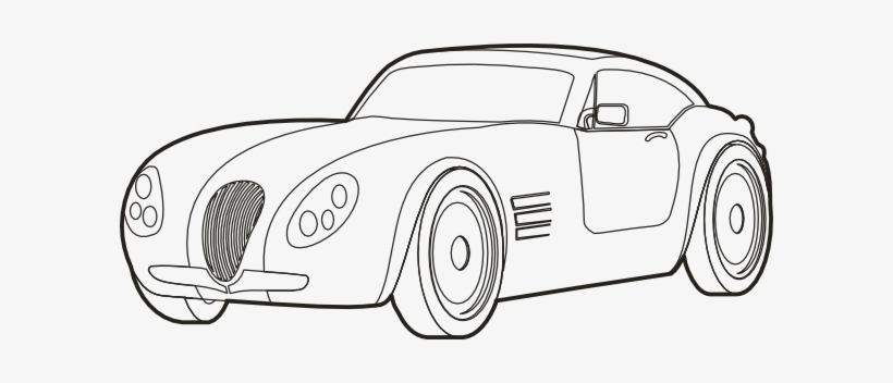 Car Outline Png Png - Drawn Race Car Outline - Sports Car Drawing Outline - Free ...