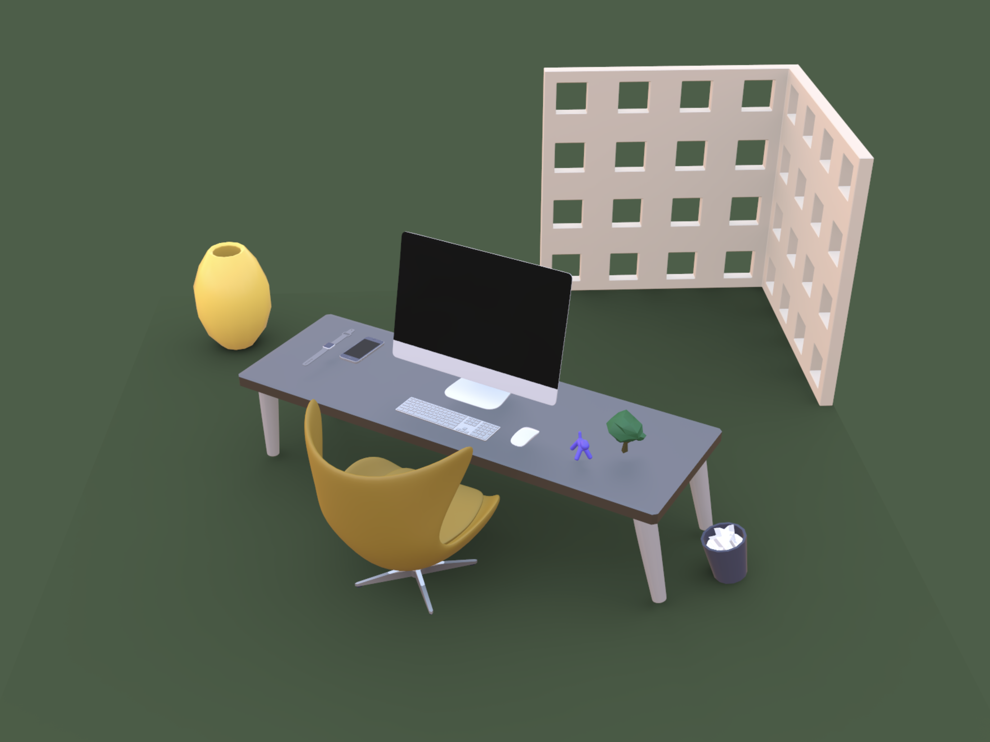 3d Scene Png - Dribbble - 3d-scene.png by Jose Torres