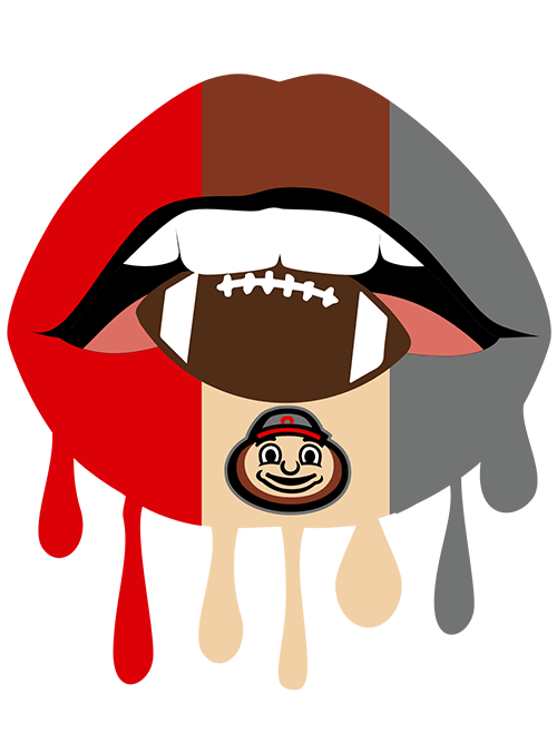 Ohio State Png - Dripping Lips Football Ohio State SVG & PNG – Handmade by Toya