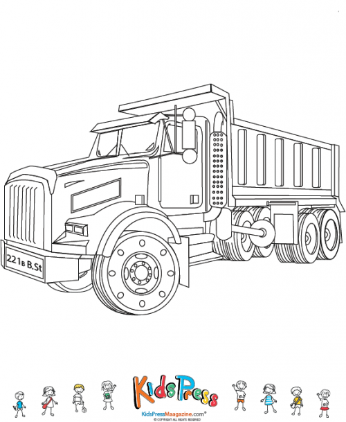 Dump Truck Coloring Pages Png & Free Dump Truck Coloring Pages.png  Transparent Images #147019 - PNGio