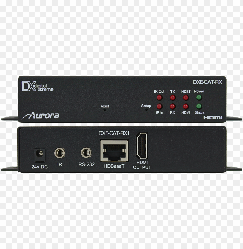 Hdbaset Png - dxe cat rx1 fb direct front with ears - aurora multimedia 230' 4k ...