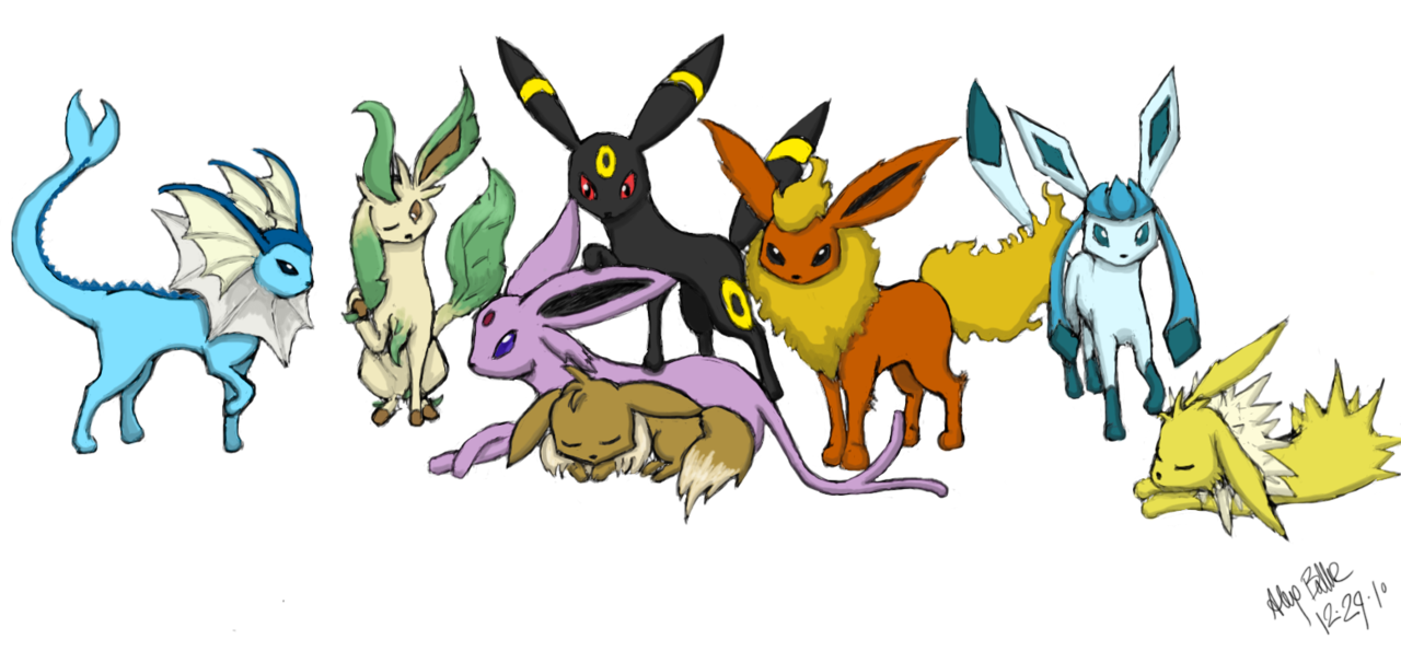 Eevee Evolutions Png 8 Png Image 981164 Png Images Pngio