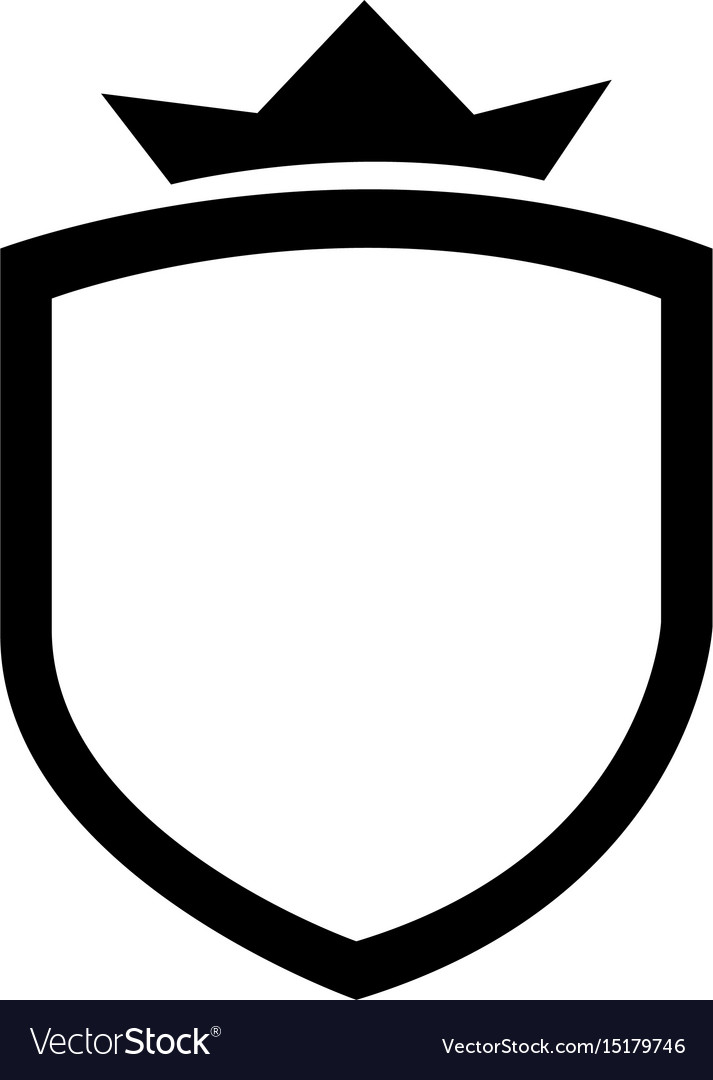 Shield Vector - Elegant badge shield icon Royalty Free Vector Image
