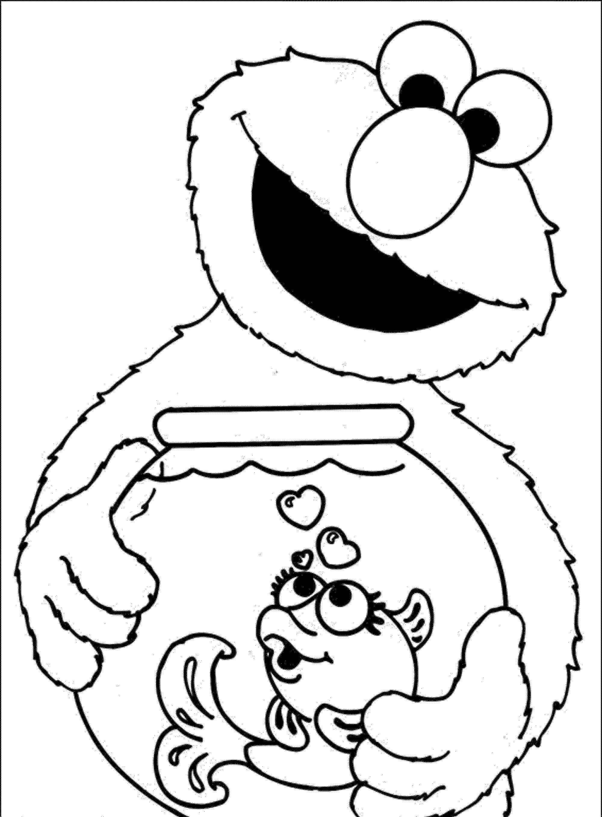 Goldfish Coloring Page Png - elmo and dorothy coloring pages | Elmo coloring pages, Sesame ...