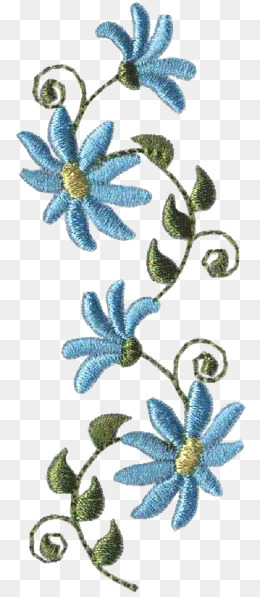 Embroidery Png - embroidery orchid, Creative, Cartoon, Hand Painted PNG Image and Clipart