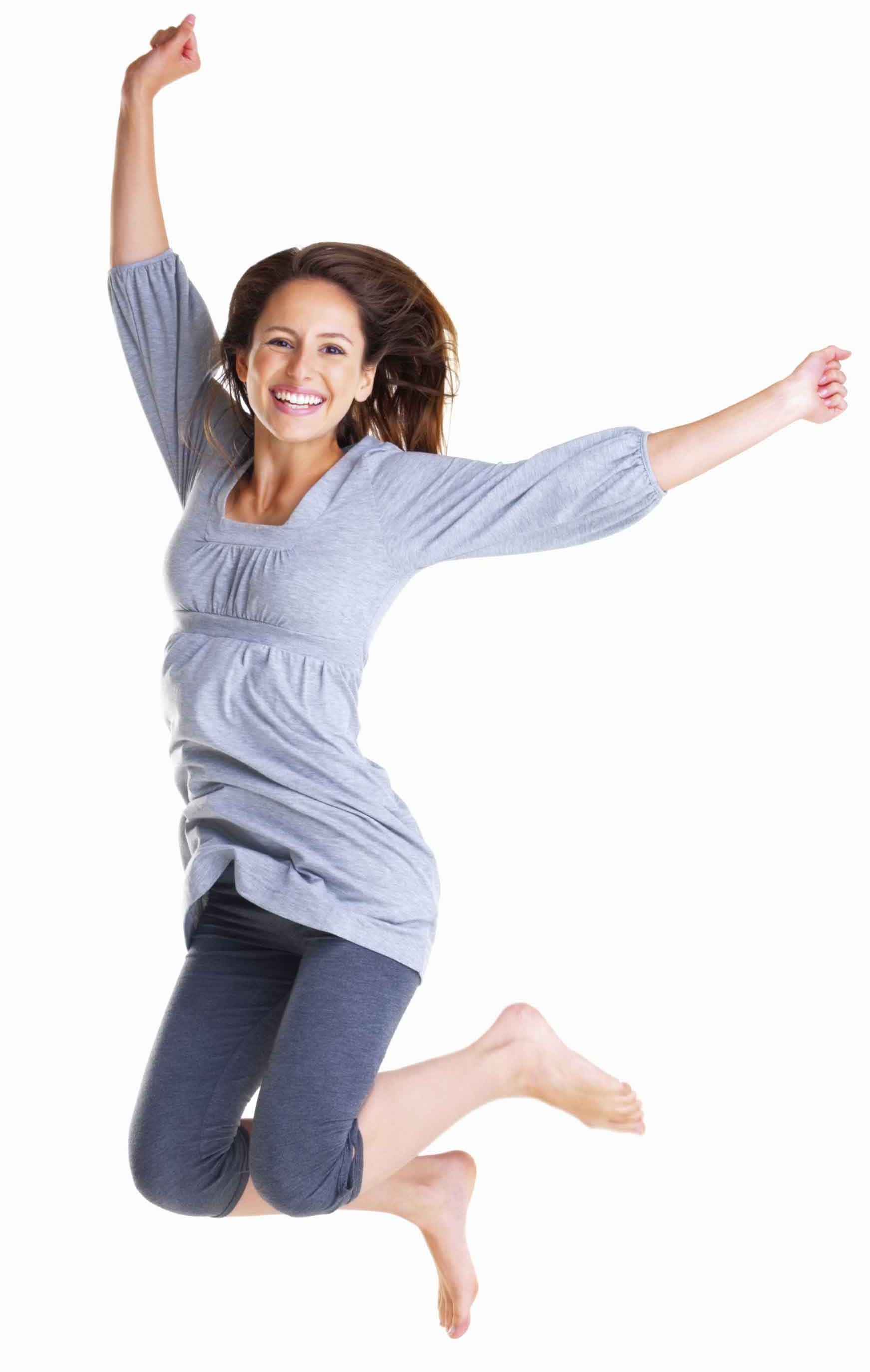Happy Woman Jumping Png Amp Free Happy Woman Jumping Png