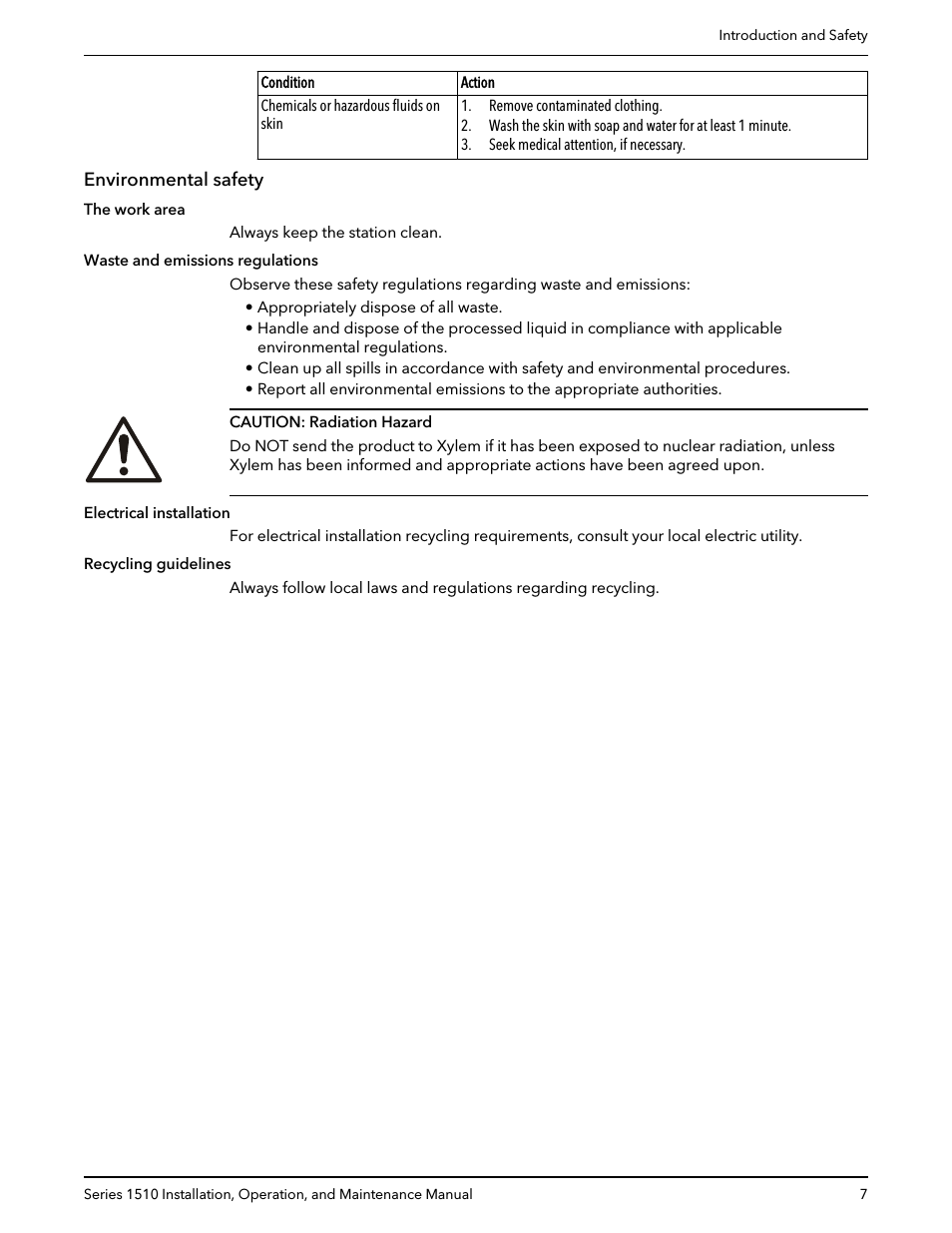 Report All Spills Caution Png - Environmental safety | Bell & Gossett P81673 REV I Series 1510 ...
