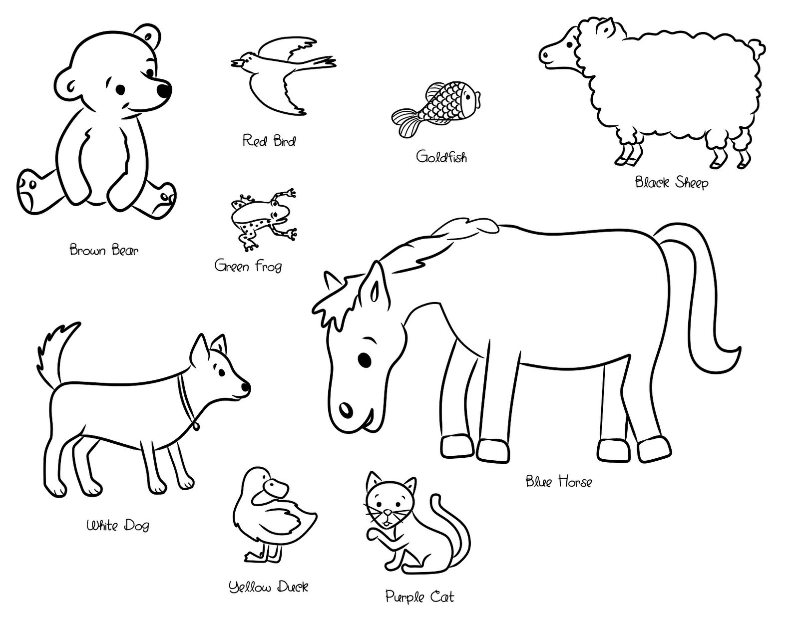 Eric Carle Coloring Pages - Free Printables - MomJunction   1236x1600