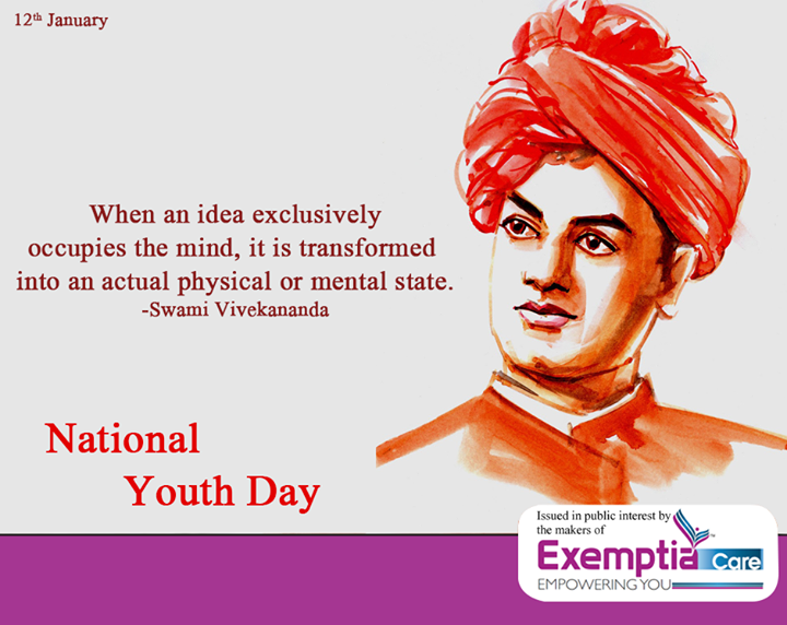 National Youth Day Png - Exemptia Tribute to Swami Vivekananda on his birthday anniversary ...