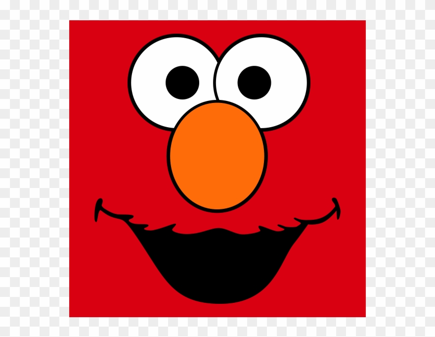 Elmo Png - Face Clipart Elmo - Elmo And Cookie Monster Face - Png Download ...
