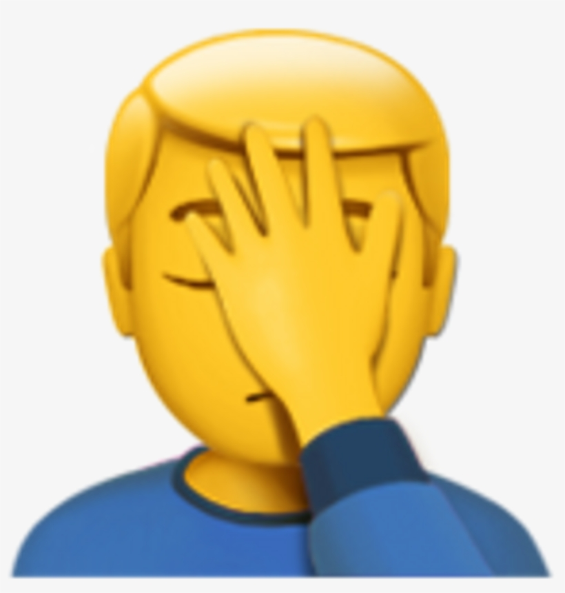Facepalm Transparent Background - Facepalm Emoji Png Png Free Library Transparent PNG - 1024x1024 ...