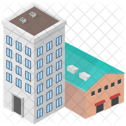 Factory Building Icon Of Isometric Style Png Images Pngio