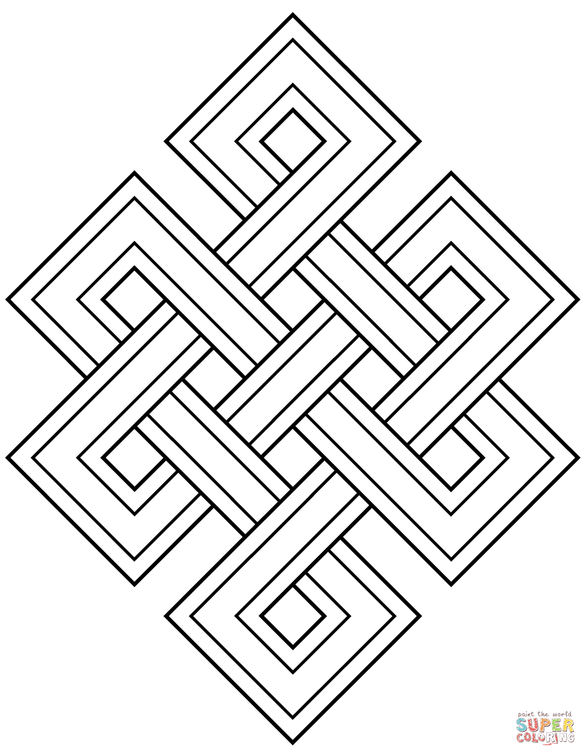 Buddha Coloring Pages Png - Faith Buddhism Endless Knot coloring page | Free Printable ...