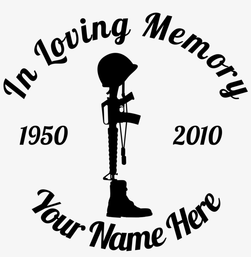 Fallen Soldiers Png - Fallen Soldier Png - Loving Memory Heart Sticker PNG Image ...