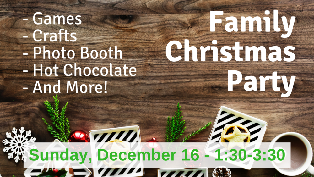 Family Christmas Party Png - Family Christmas Party — Klamath Christian Center
