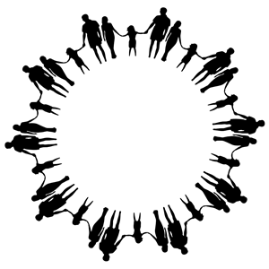 Circle Of People Holding Hands Png - Family Silhouette Holding Hands Circle clipart, cliparts of Family ...