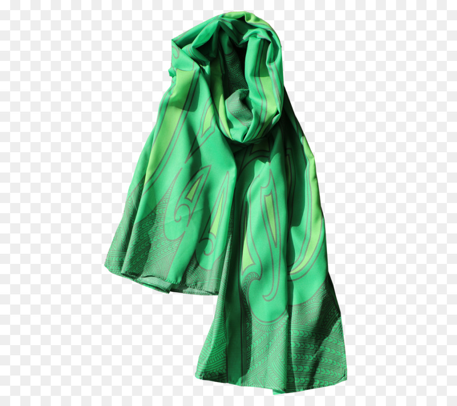 Green Scarf Png - Fashion Scarf Clothing Accessories Green Chiffon - green scarf png ...