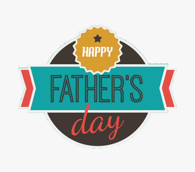 Father's Day Retro Label Vector Material #14541 - PNG Images
