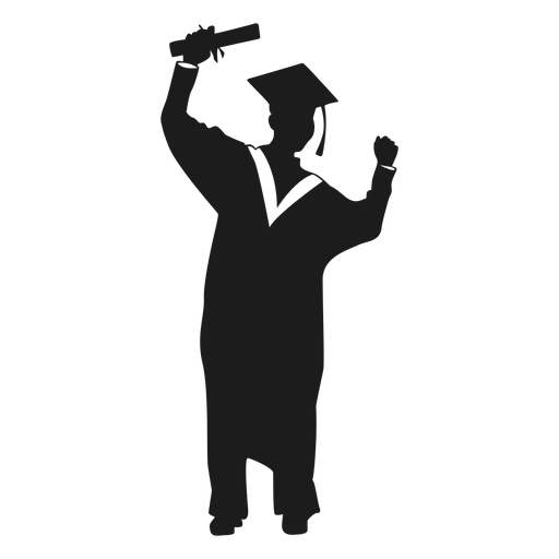 Png Graduate Silhouette & Free Graduate Silhouette.png ...