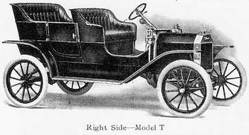 Ford Model T Png - File:1909 Ford Advance Catalog - Model T Touring Car - Right Side ...