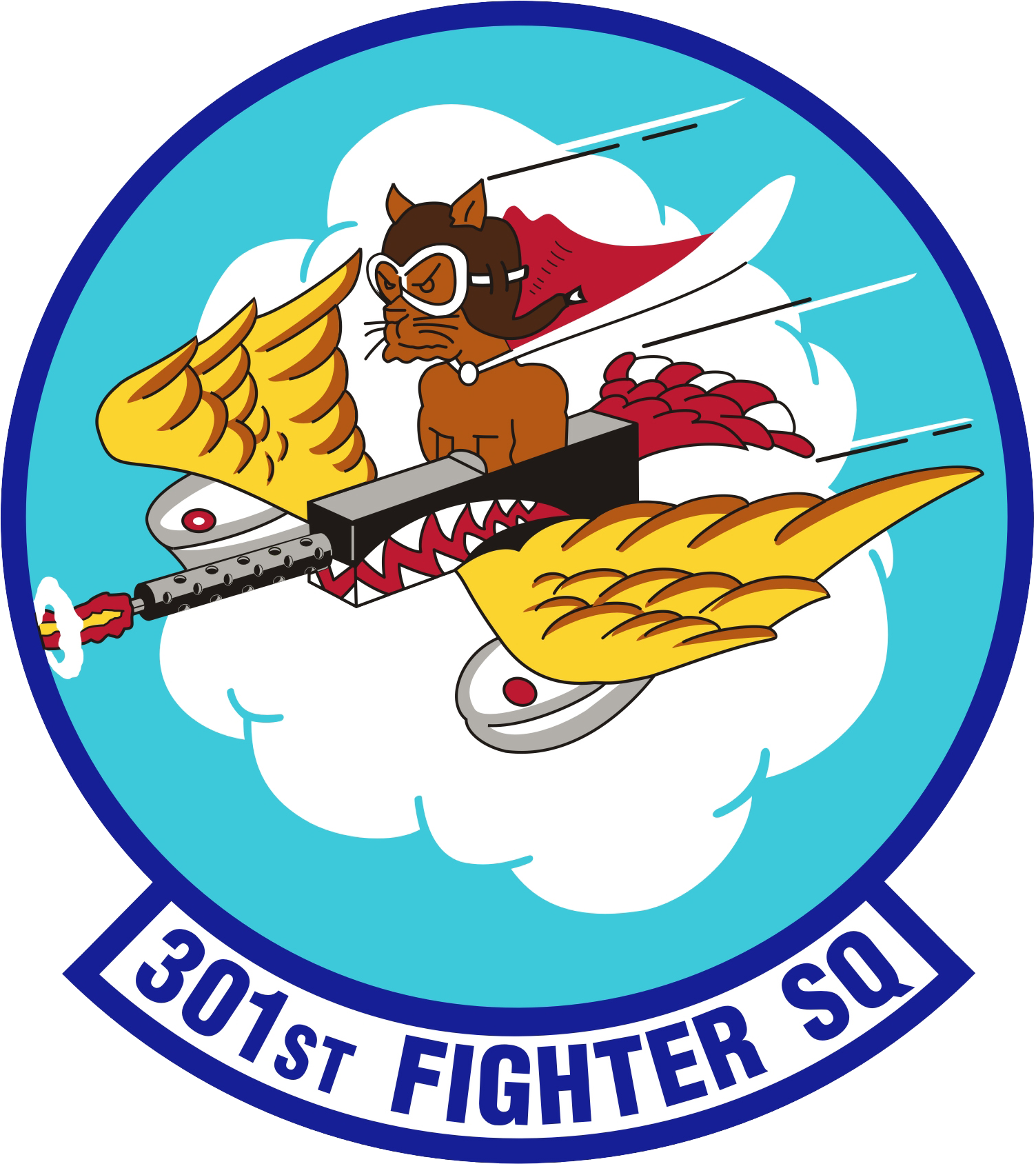 Tuskegee Airmen Png - File:301st Fighter Squadron - AETC - Emblem.png - Wikimedia Commons