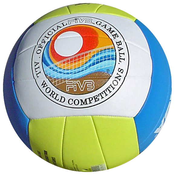 Volleyball Ball Png Mikasa - File:Beach volleyball ball.png