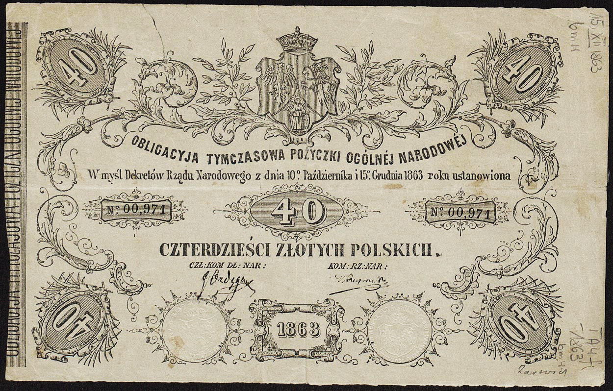 Government Bond Png - File:Bond of National Loan issued by Polish National Government ...