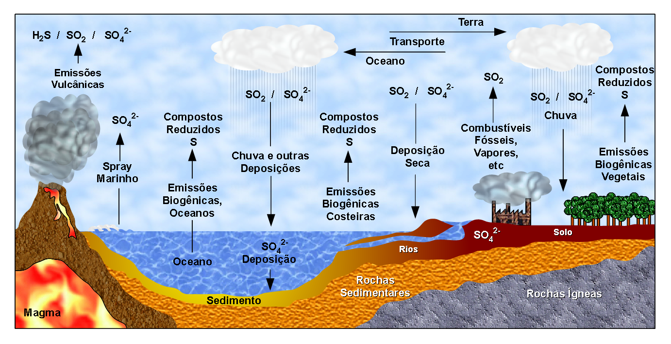 Sulfur Cycle Png - File:Ciclo do Enxofre (Sulfur Cycle).png - Wikimedia Commons