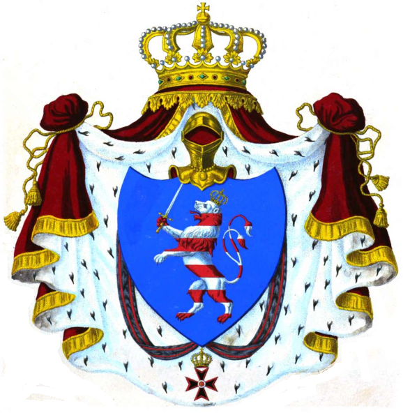 Coat Of Arms Of Hesse Png - File:Coat of arms of Grand Duchy of Hesse and by Rhine 1846.png ...