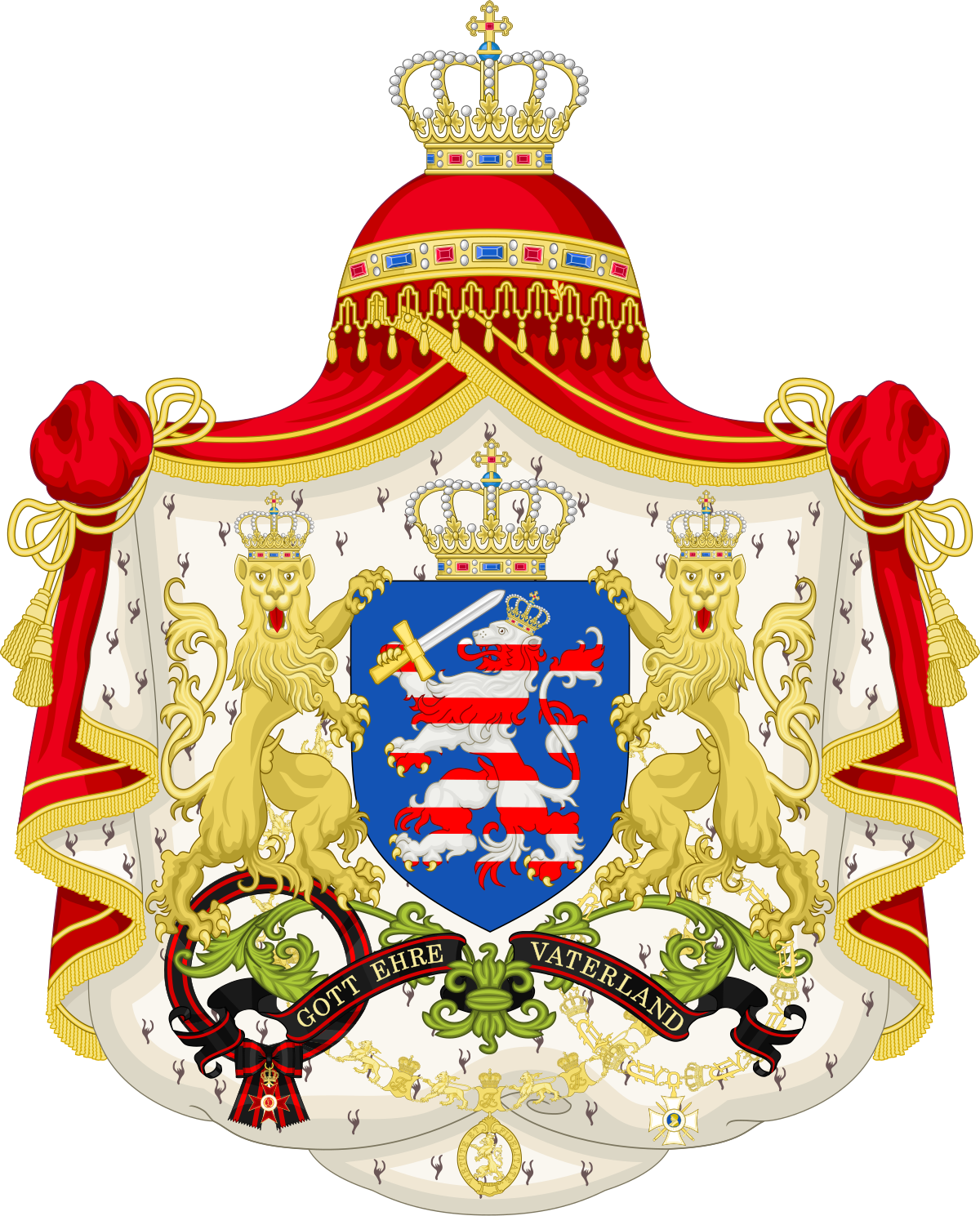 Coat Of Arms Of Hesse Png - File:Coat of Arms of the Grand Duchy of Hesse 1806-1918.svg ...