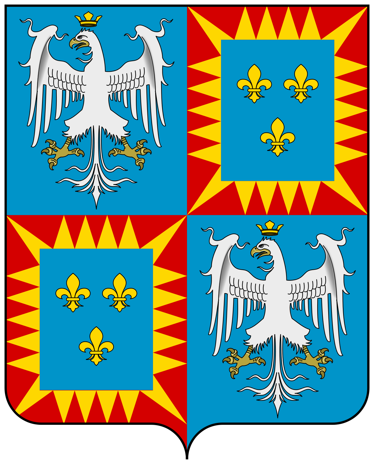 House Of Este Png - File:Coat of arms of the House of Este (1431).svg - Wikipedia