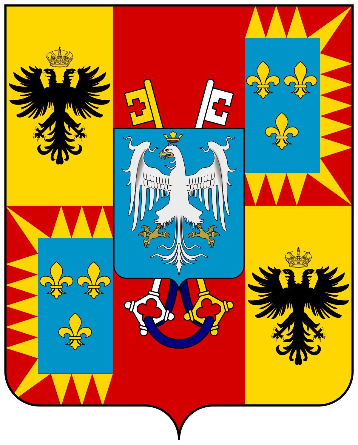 House Of Este Png - File:Coat of arms of the House of Este (Ercole I).svg - Wikimedia ...