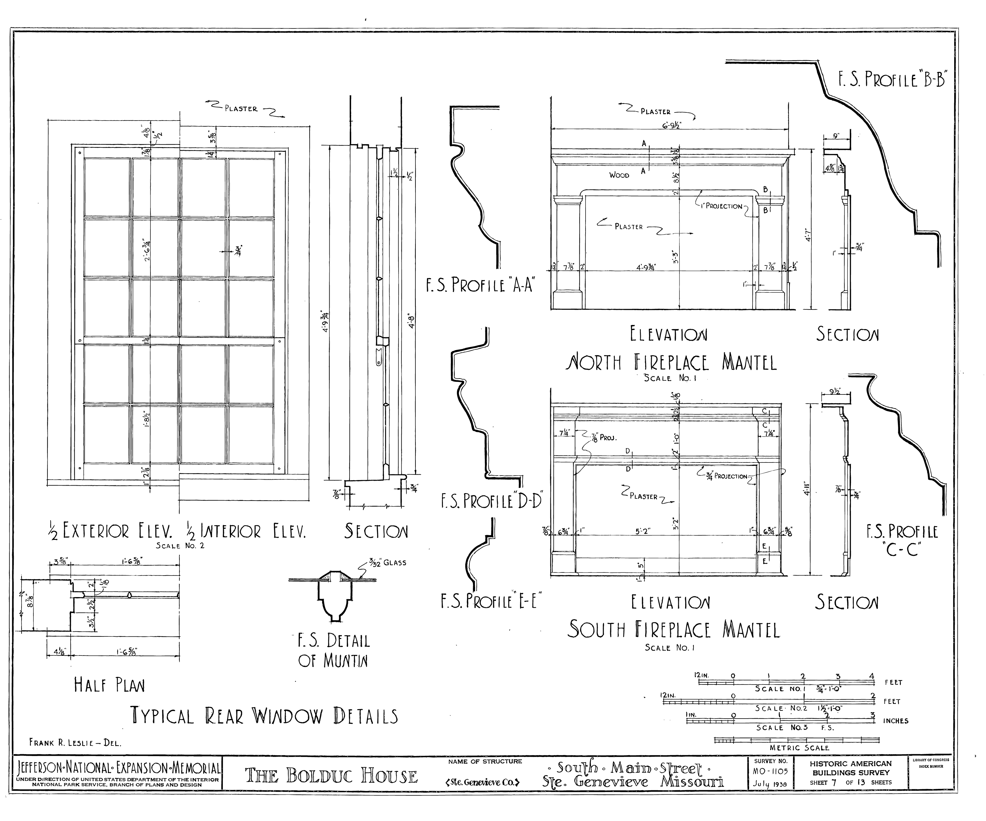 Fireplace Drawing Png - File:Drawing of Windows and Fireplaces in the Bolduc House in Ste ...