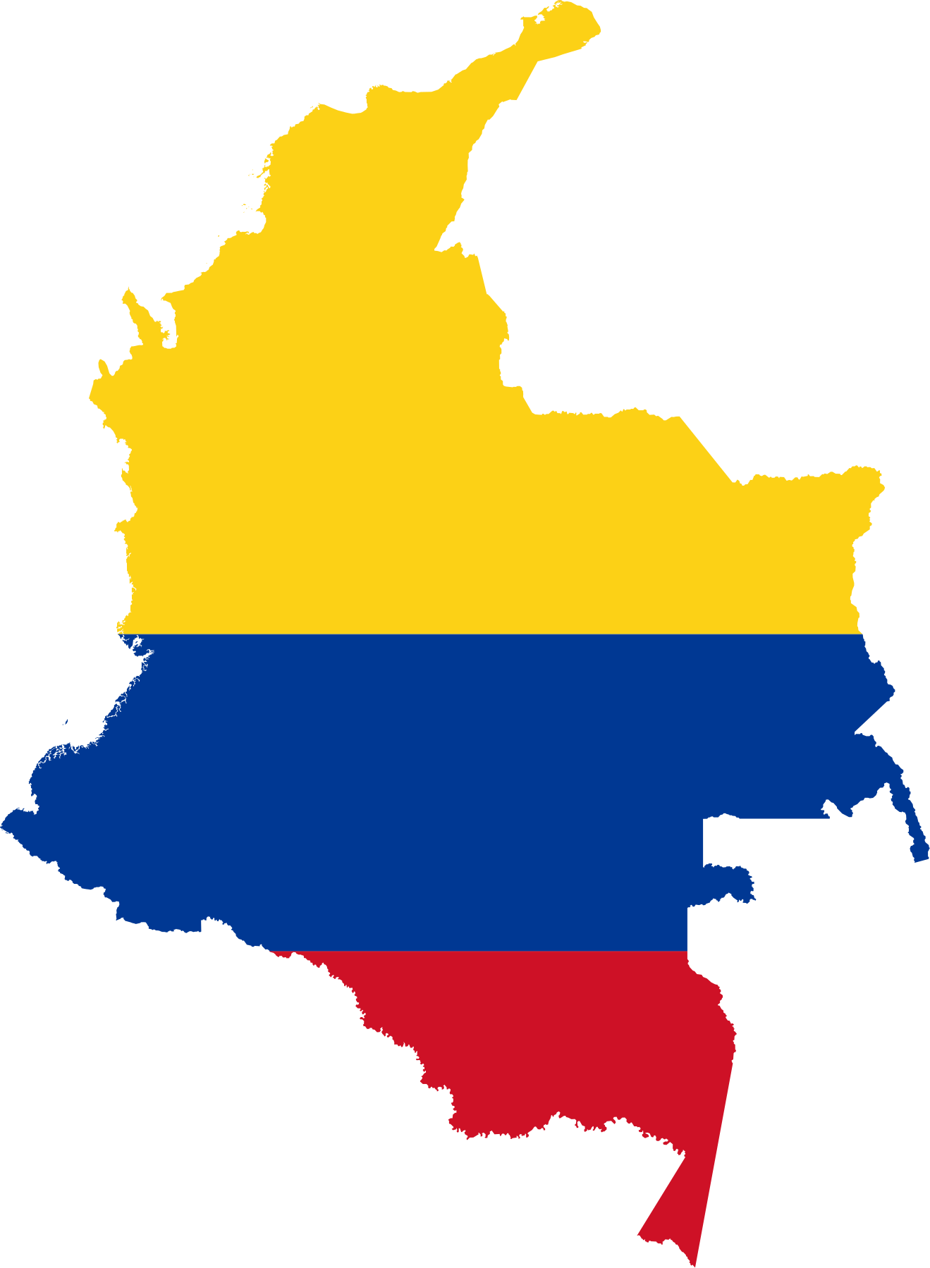 Flag Of Colombia Png - File:Flag-map of Colombia.svg - Wikimedia Commons